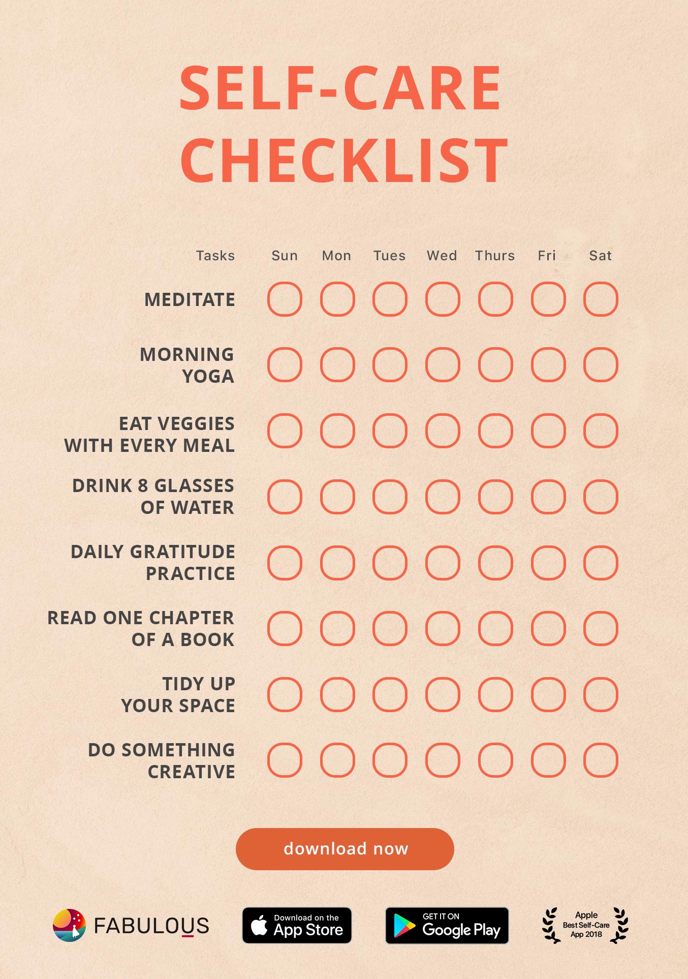 Self-Care Checklist!
