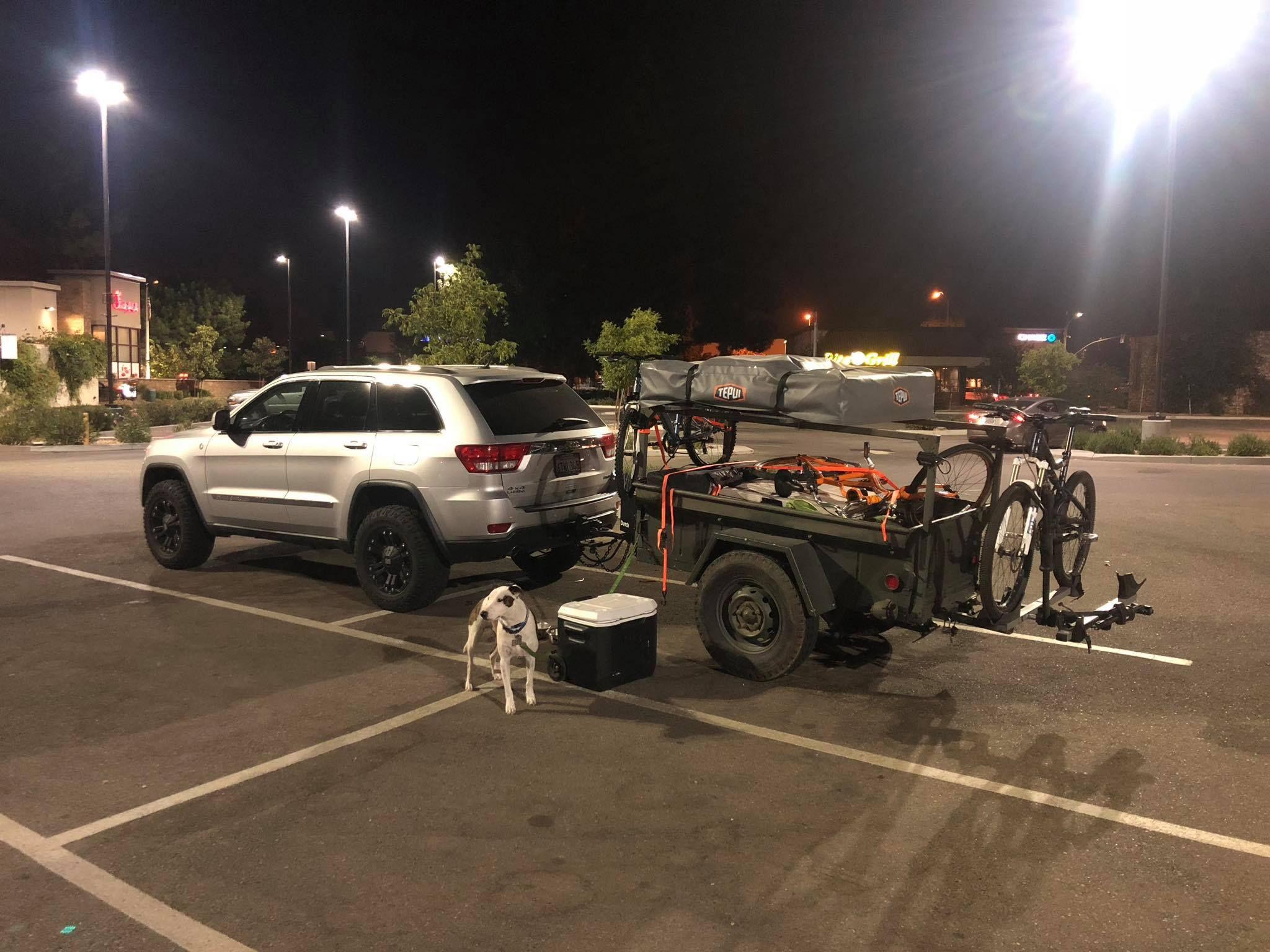 Greg S Gear Bike Hauler M416 Trailer Setup With No Weld