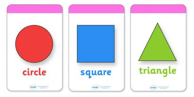 2D Shape Flashcards (inc. Shape Names)