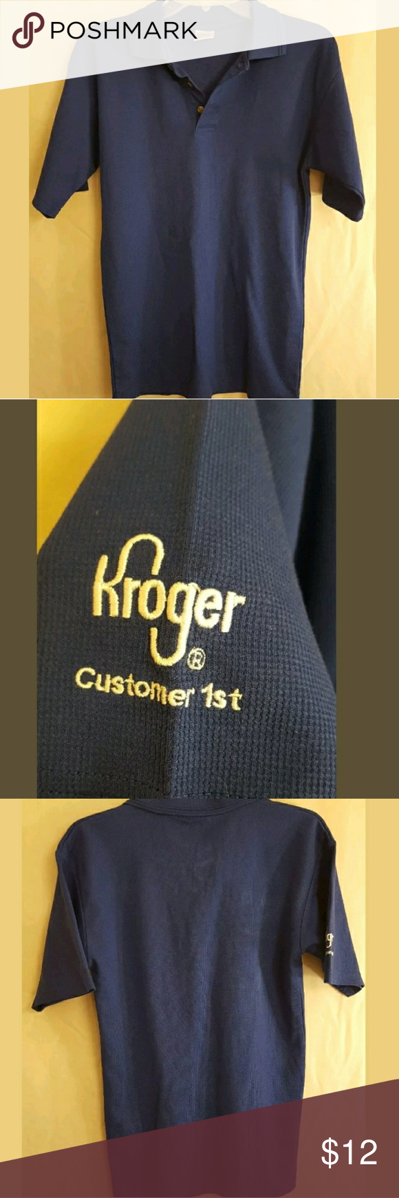 Kroger uniform shirt Adult XSMALL Kroger Grocery Kroger