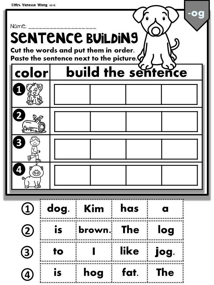 phonics cvc short vowels sentence building kindergarten first grade phonics activities. Black Bedroom Furniture Sets. Home Design Ideas