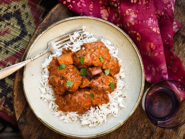 Pomodori e yogurt pollo al curry - aggiungere arachidi e più peperoncino, riso basmati, solo petto