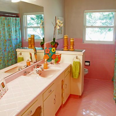 pink tile bathroom design ideas, pictures, remodel and
