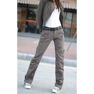 Gray Cargo Pants For Women
