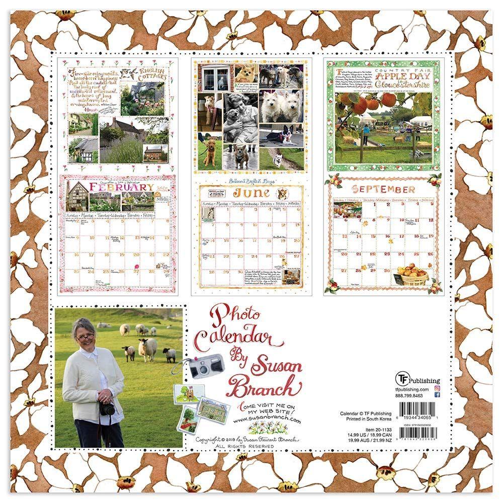 Branch County Fair 2020.2020 Susan Branch English Countryside Wall Calendar Tf