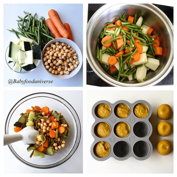 Baby's wholesome vegetable & chickpea purée. 6m+   Baby ...