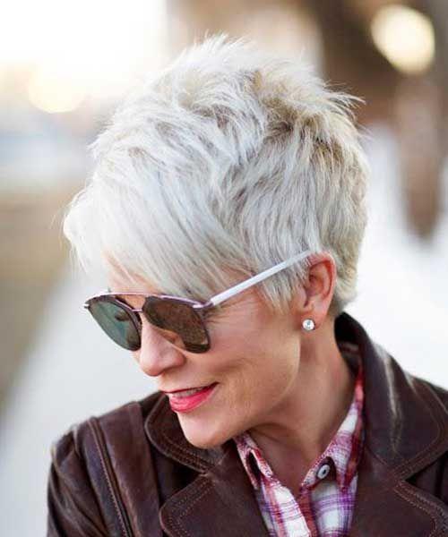 corte de cabello corto o pixie corto mujeres maduras pelo