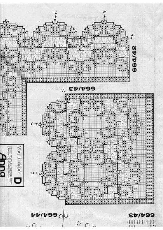 Bordure filet pizzi all 39 uncinetto bordi realizzati all for Schemi bordure uncinetto filet
