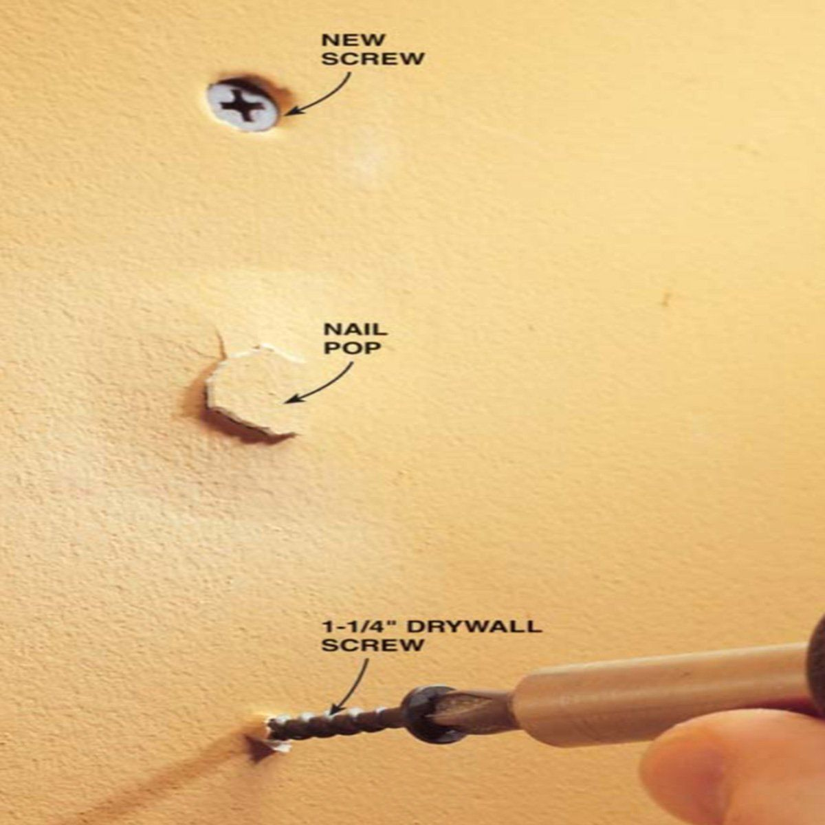 Fix Popped Drywall Nails And S