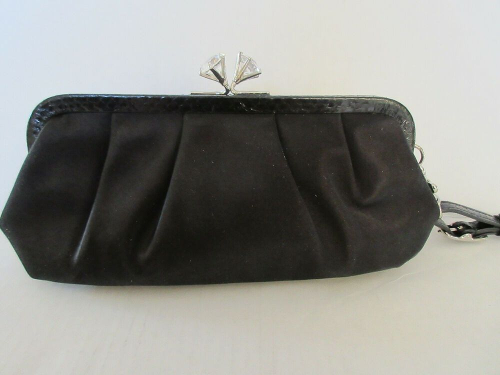 Black Satin Clutch Bag