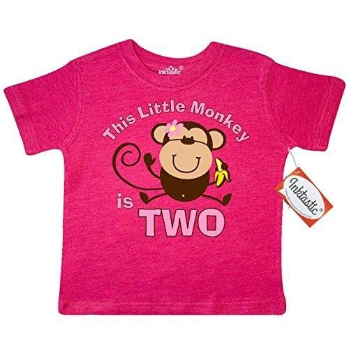 Inktastic Little Monkey Girl 3rd Birthday Toddler T-Shirt Girls Jungle Safari