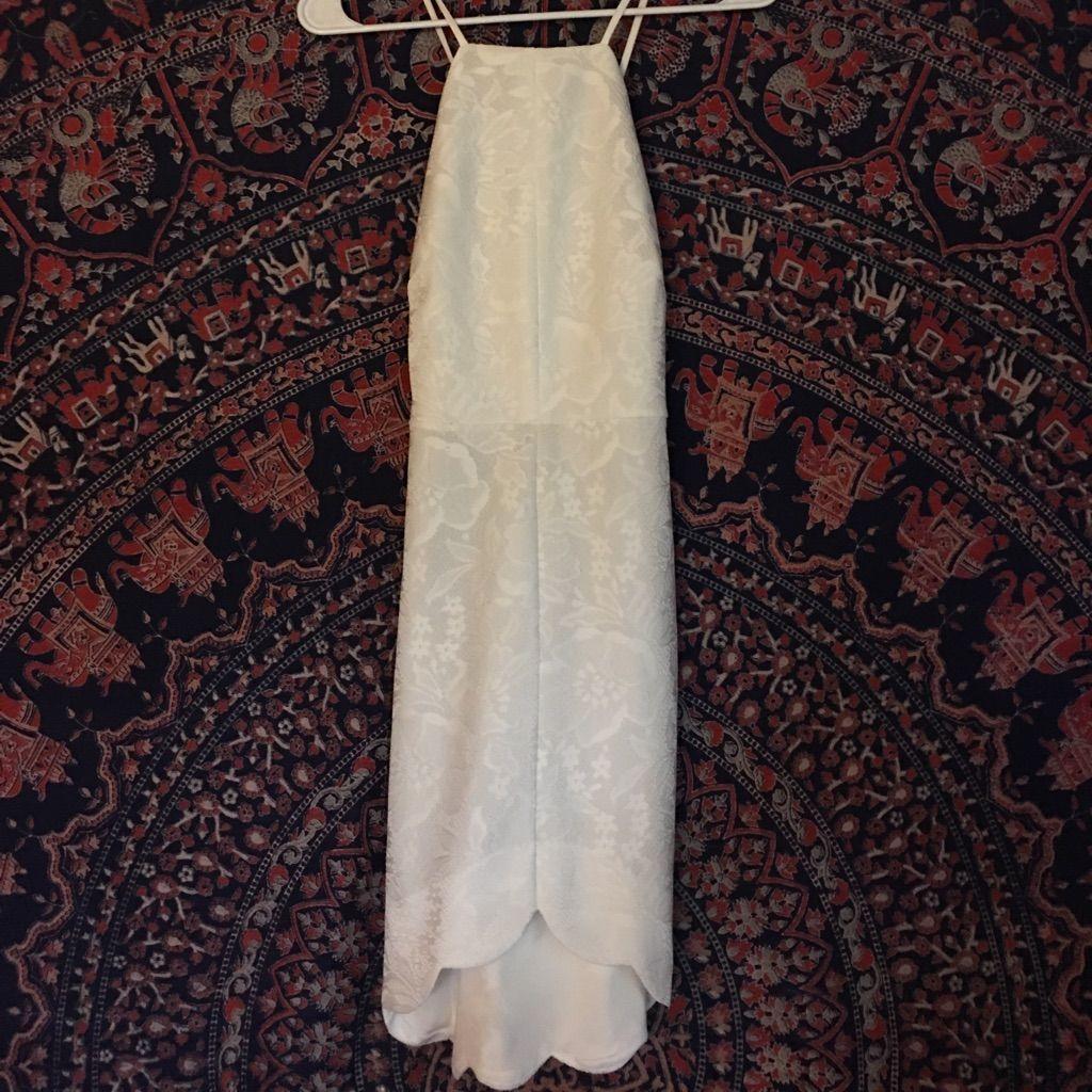 White crochet halter dress forever products