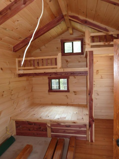 Trophy Amish Cabins Llc 10 X 20 Lodge No Porch Tiny Cabins Interiors Tiny House Cabin Small Cabin Interiors