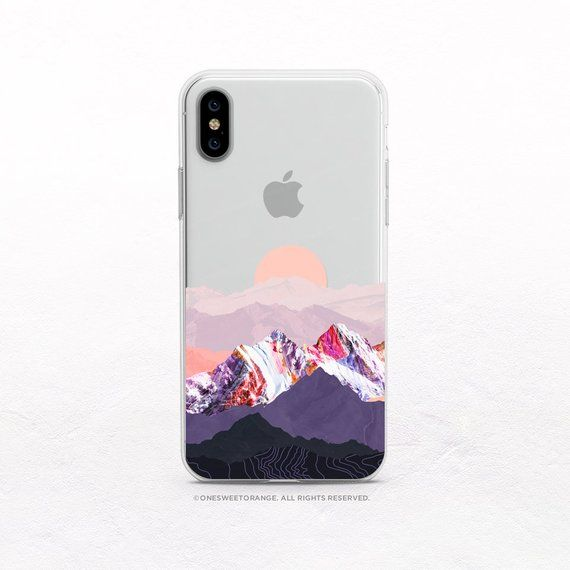 online store 26563 c4363 iPhone XS Case Mountain Sunset Clear Rubber iPhone XS Max Case ...