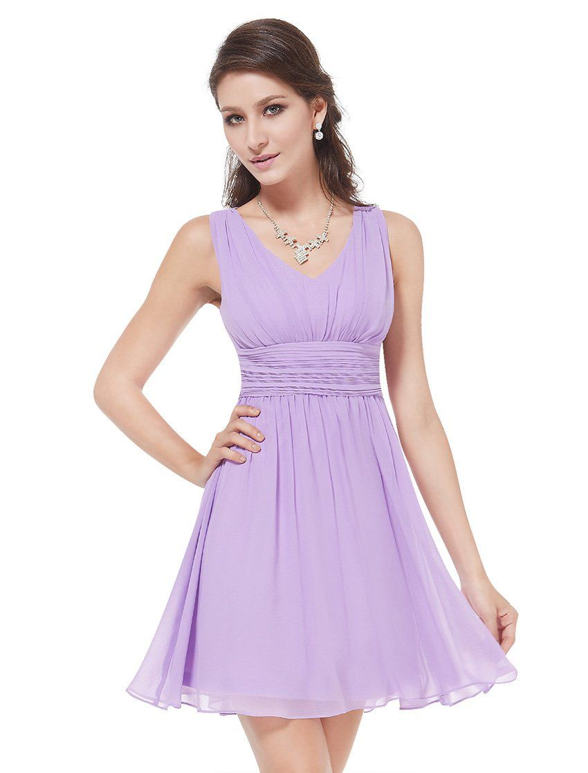 Ever Pretty Womens Short Sleeveless Casual Cocktail Dress 10 US Light Purple e812fe2a2a