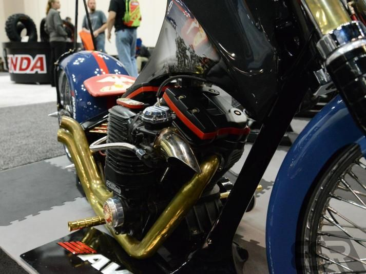 Tim Banks' Marine Corps Custom Bike as seen at the Indianapolis Dealer Expo in February 2013