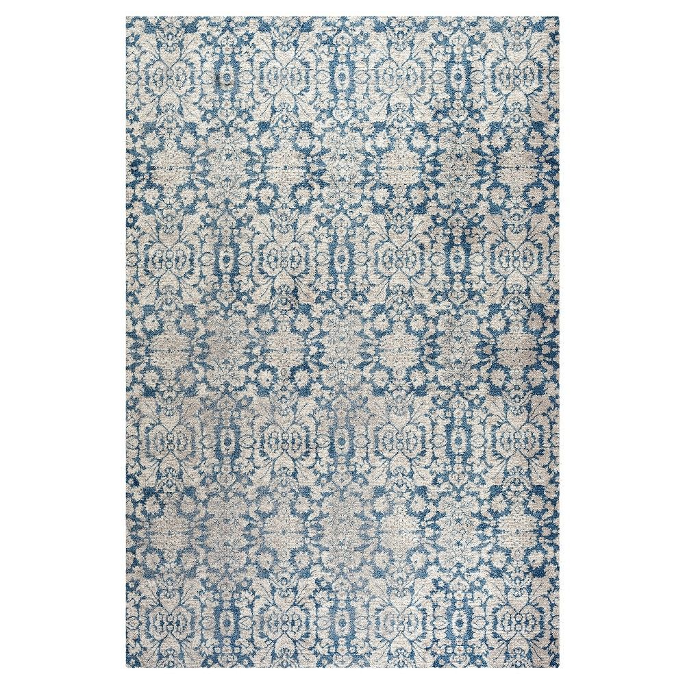 Blue/Beige Abstract Loomed Accent Rug - (3'x5') - Safavieh