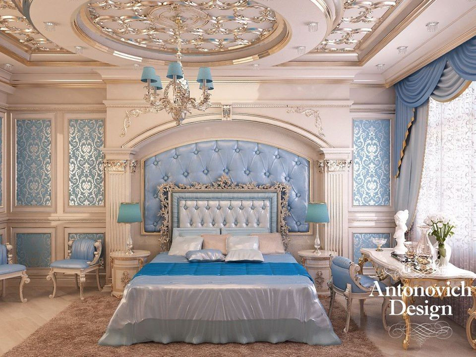 The Perfect Combination Of Color, Elegance Of Decorative Elements, Elegant  Furniture . All These Create A Special Atmosphere In The Bedroom, ...