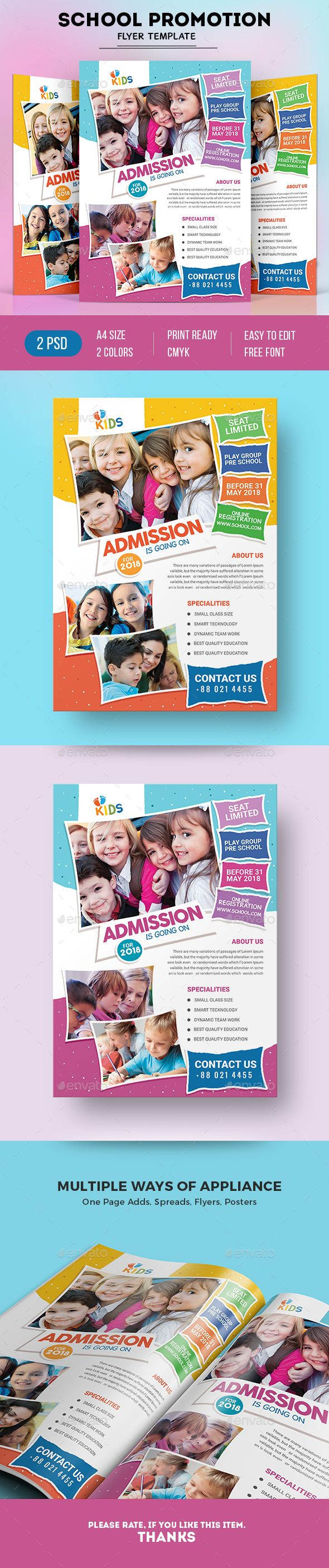 School Flyer  Preschool Themes Flyer Template And Print Templates