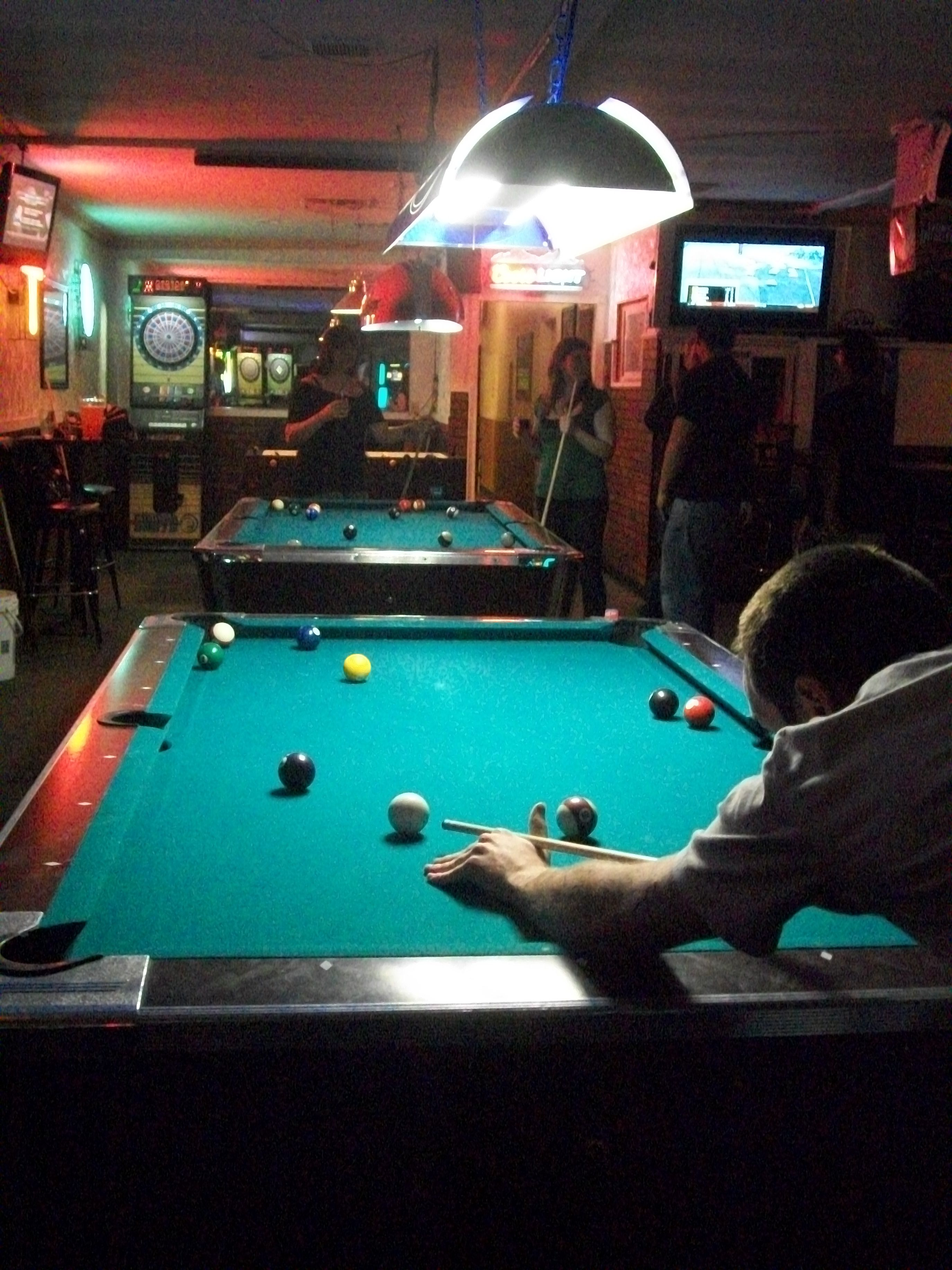 The Pool Hall, The Only Place The World Seems To Make Sense.