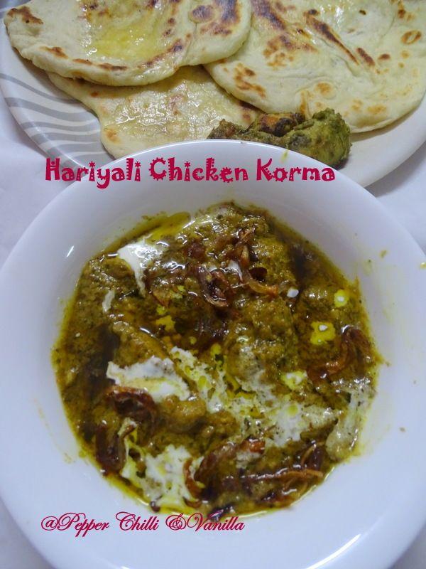 Hariyali Chicken Korma Hariyali Murgh Korma Chicken Korma Murgh Korma Chicken Korma Recipe