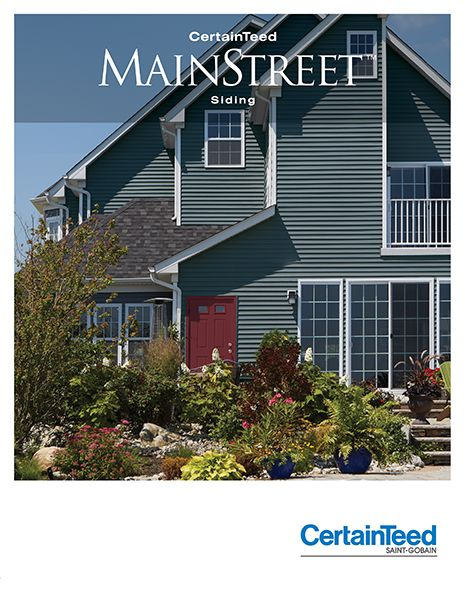 Mainstreet Vinyl Siding Collection Horizontal Polymer Shakes Certainteed