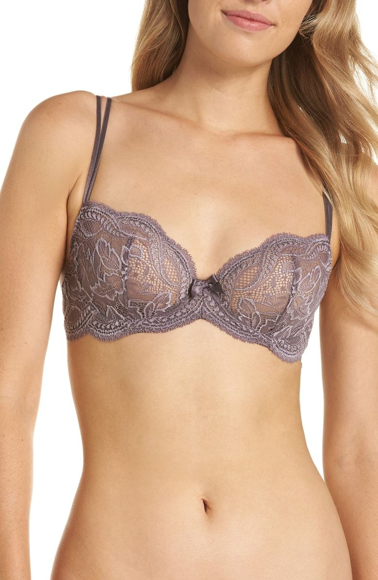 ae3488279ee92 Free shipping and returns on Simone Perele Eden Underwire Plunge Demi Bra at  Nordstrom.com. Sheer, scalloped lace looks ultra romantic and feels  lightweight ...