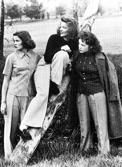 Kittypackards Katharine Hepburn And Sisters Katharine Hepburn Katherine Hepburn Hepburn
