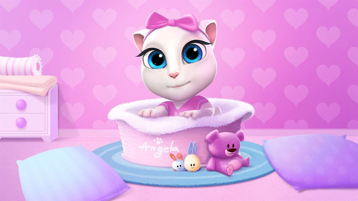 My Talking Angela Microsoft Store Virtual Pet Mini Games Talking Tom