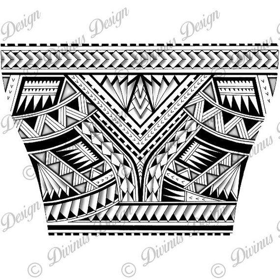 Maori Tattoo Digital Designs: Wrap Around Arm Polynesian Tattoo For Men