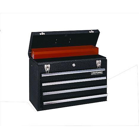 Craftsman 4 Drawer Metal Portable Chest Black Wrinkle