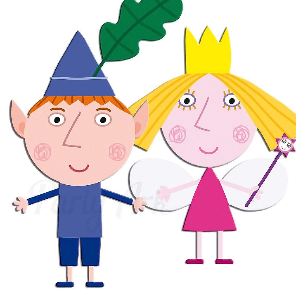 Ben Elf & Princess Holly Cardboard Cutout | Cumple, Duendes y Hada