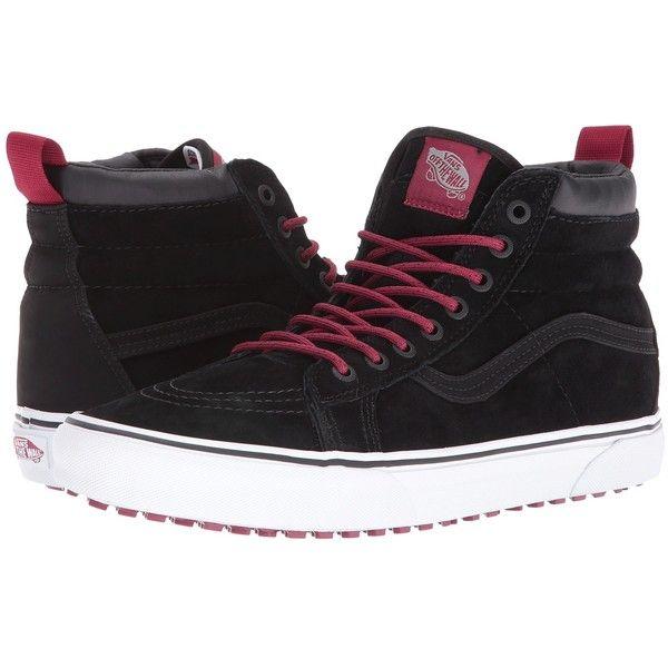 efa45af496dc16 Vans SK8-Hi MTE ((MTE) Black Beet Red) Skate Shoes ( 85) ❤ liked on  Polyvore featuring shoes