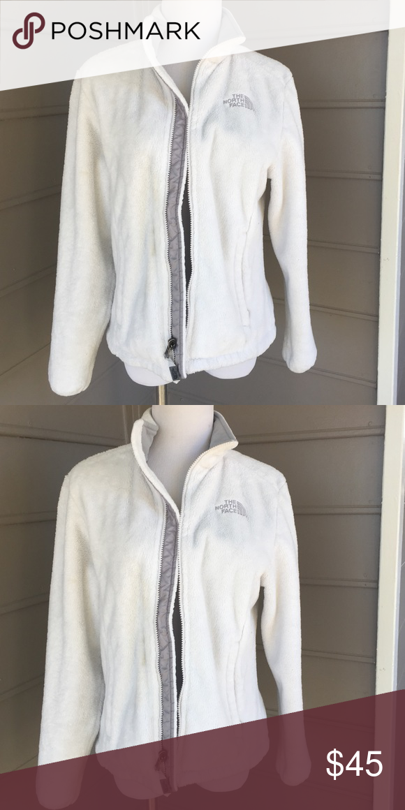 North face white fleece coat In mint condition. Size S North Face Jackets & Coats