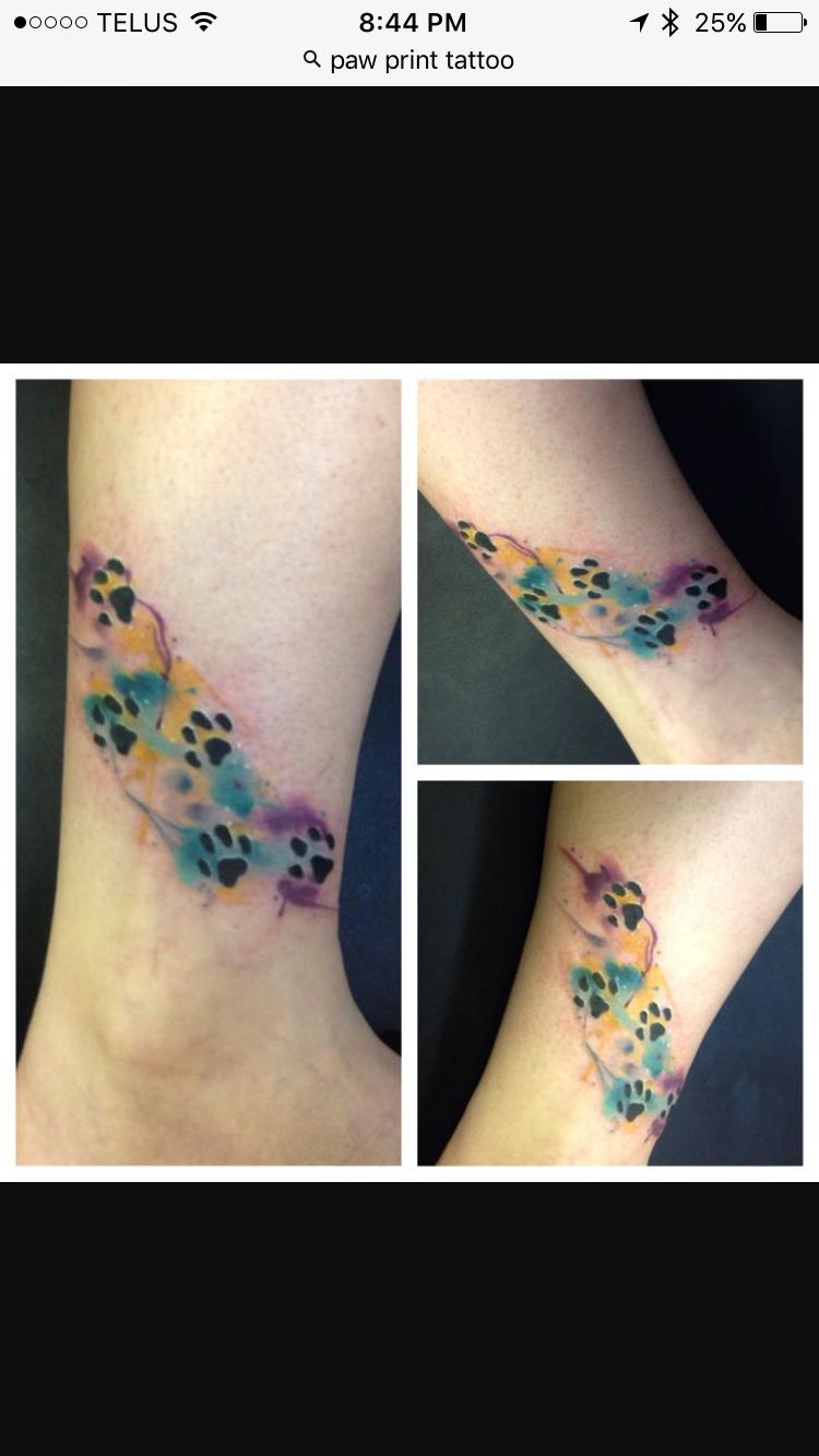 Pin by Micki Corley on Tattoo Ideas Pawprint tattoo