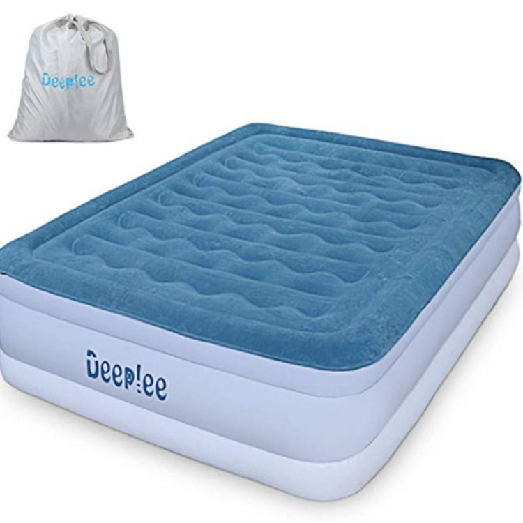 Deeplee Queen Size Air Bed Air Mattress Flocked Raised Airbed For