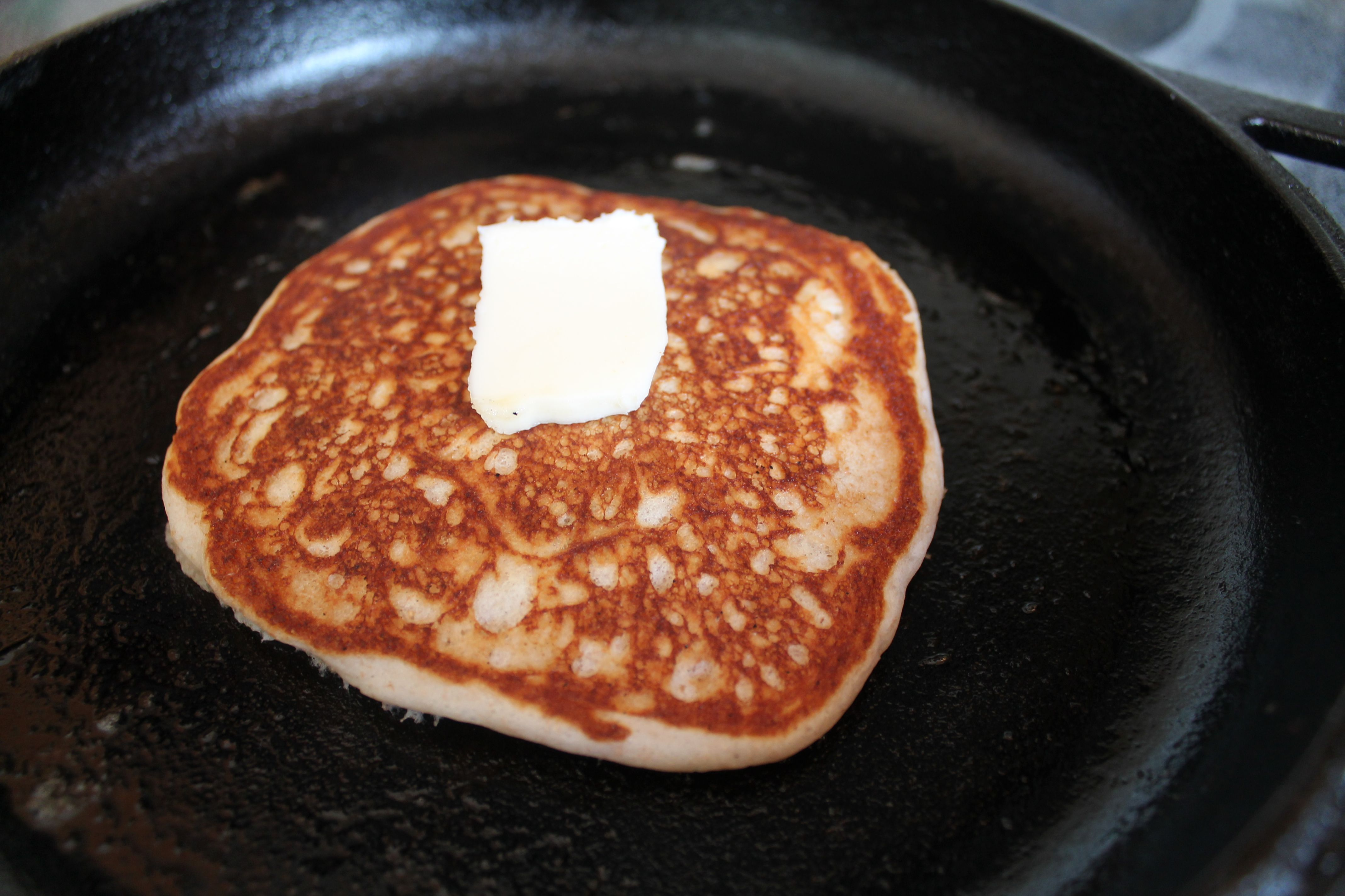 Add a secret ingredient to Krusteaz pancake mix for a light, fluffy stack :)