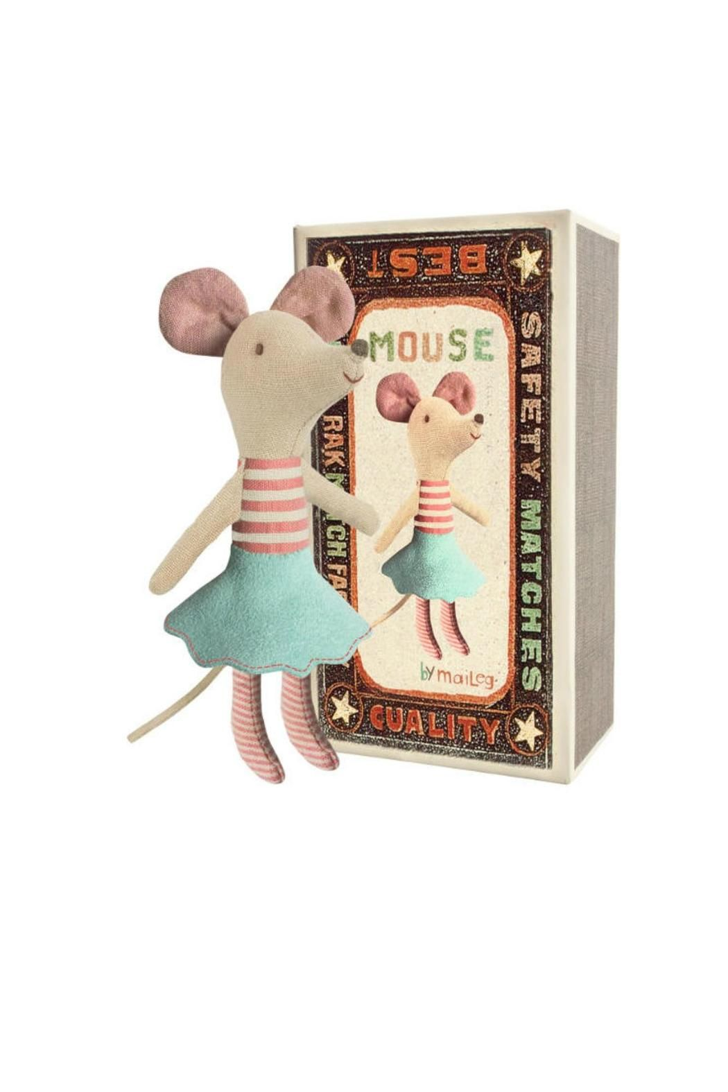 Maileg Matchbox Sister Mouse Mice Big And Boutique Sturdy A Set Of Lovely With Rosy Ears Delightful Smile Matching Match Box Filled Colorful Beddings The Is Decorated Whimsical