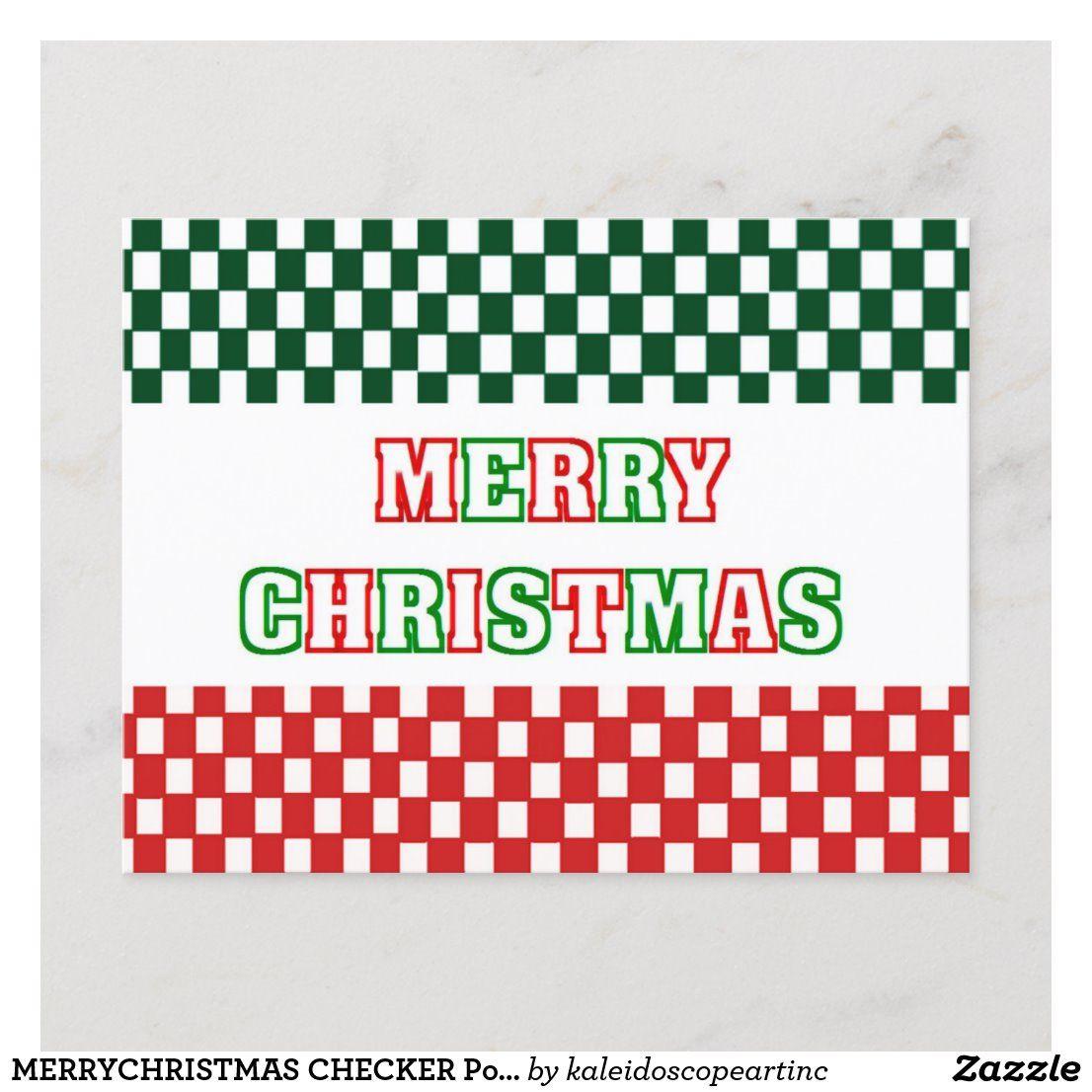 MERRYCHRISTMAS CHECKER Postcard