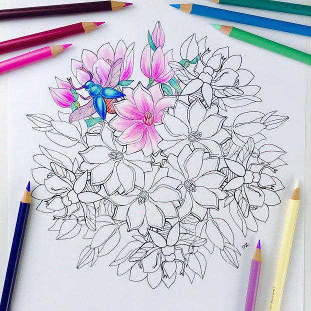Spring Mandala coloring page Printable mandalas