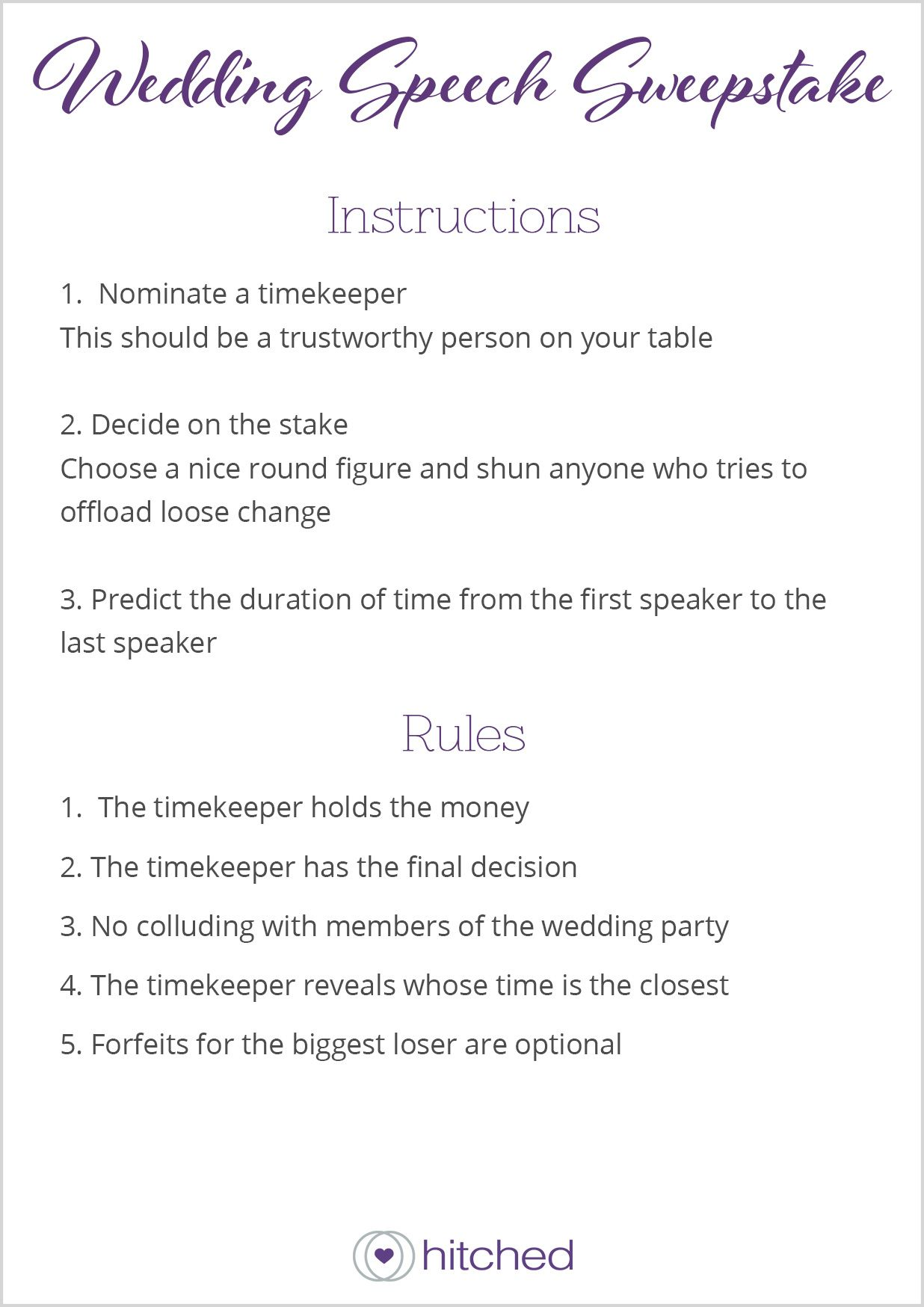 Wedding Table Games The Best Ice Breakers