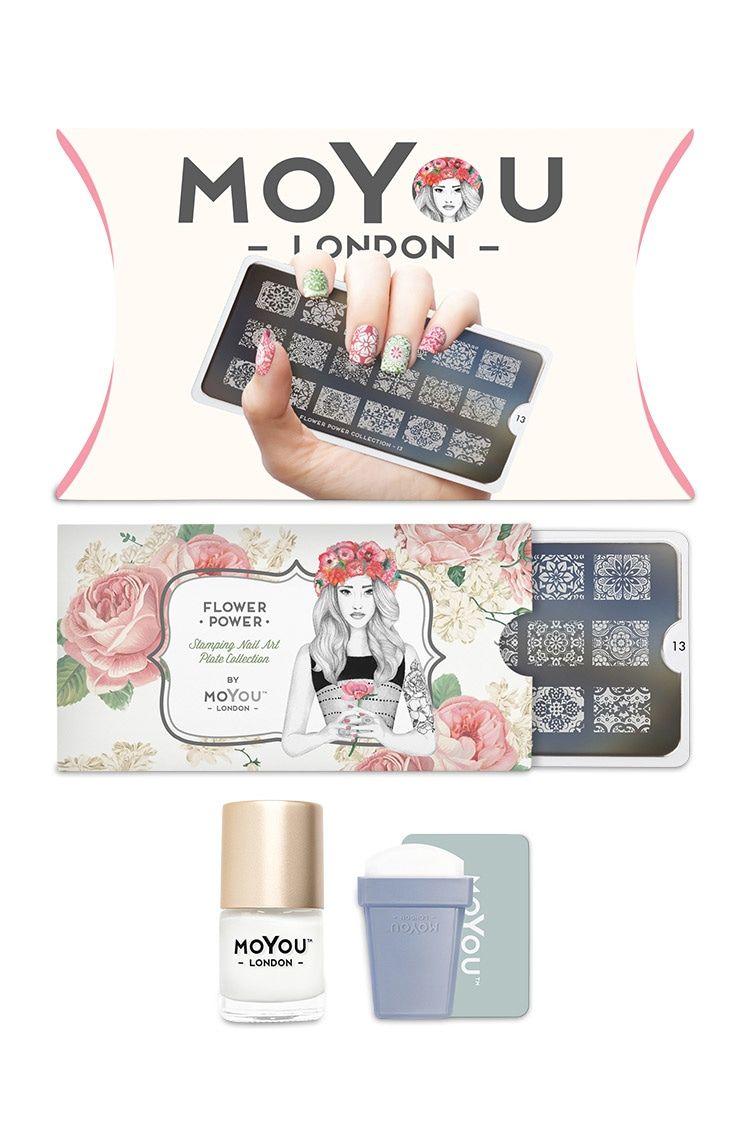 MoYou Flower Nail Stamp Kit | MoYou kits | Pinterest | Nail stamping ...