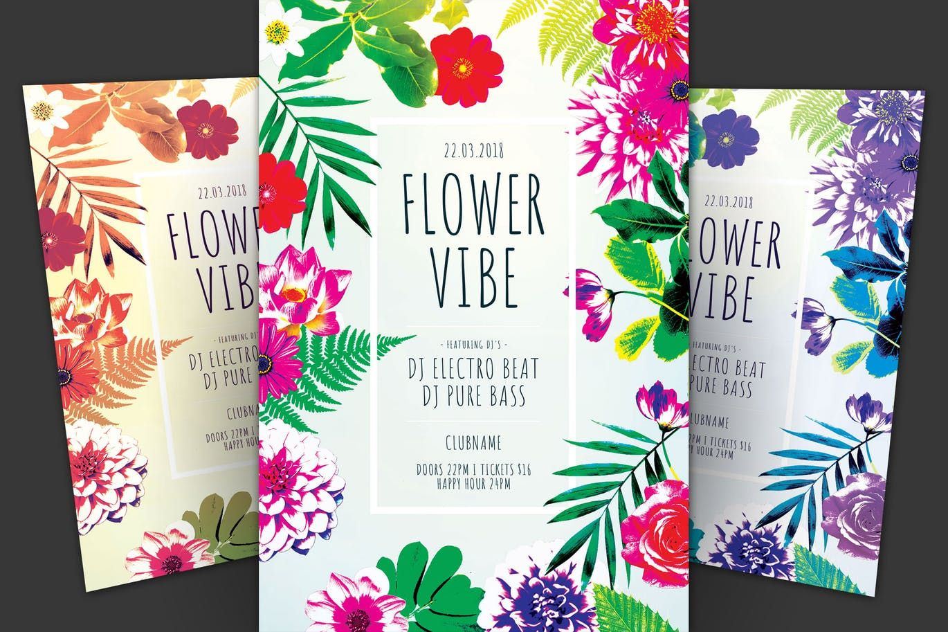 Flower vibe flyer by stylewish on flyer design templates