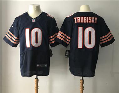 on sale 5d13e a39b9 Bears #10 Mitchell #Trubisky Blue Stitched Elite #Jersey ...