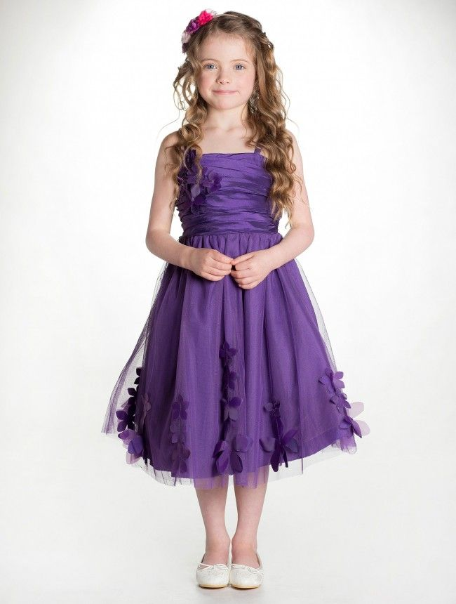 purple childrens bridesmaid dresses | Bella\'s Sweet Sixteen | Pinterest