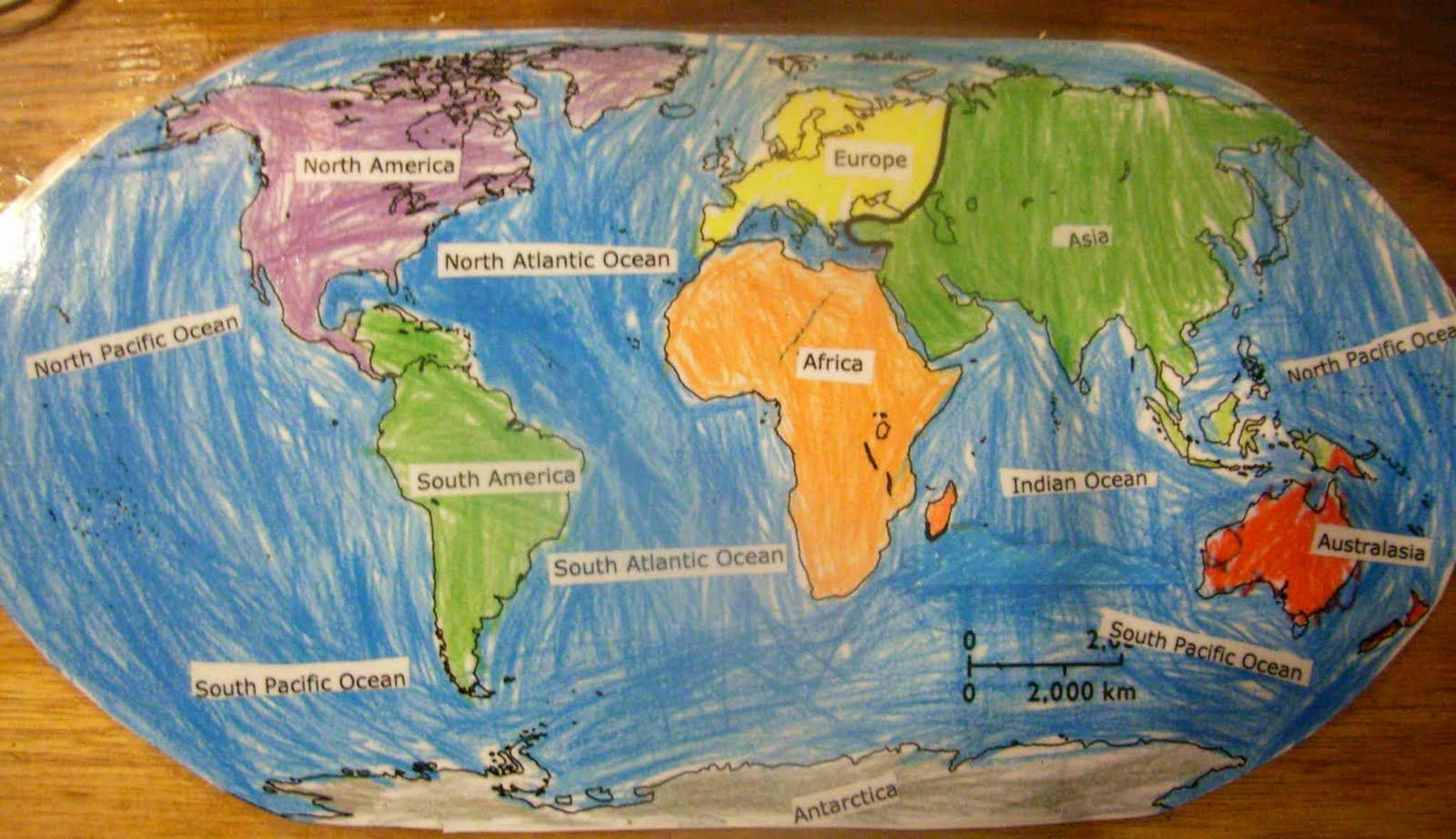 World map continents and oceans jaspers world map showing the world map continents and oceans jaspers world map showing the continents and major oceans gumiabroncs Choice Image