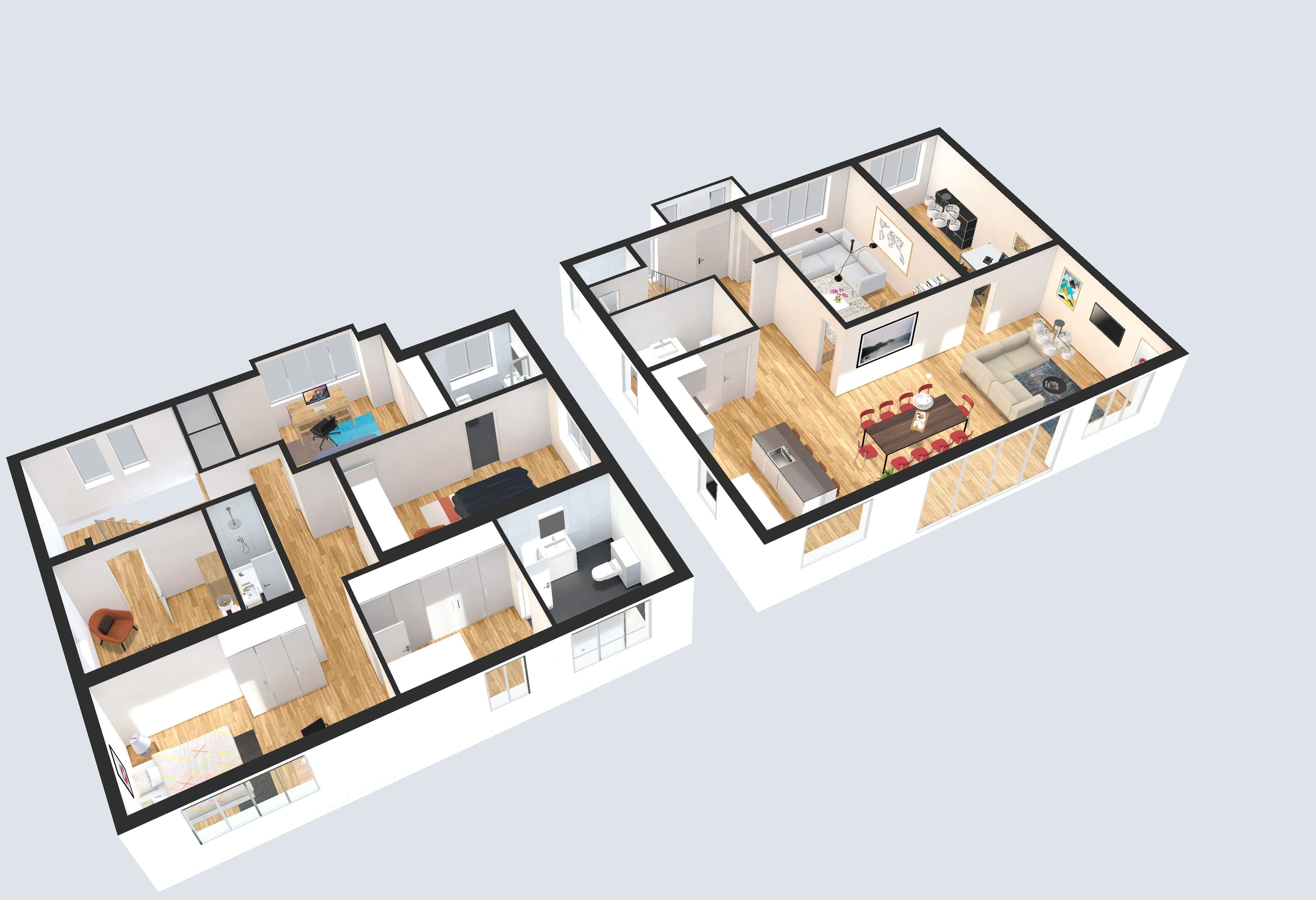 Create High Resolution Floor Plan images from our 3D interactive