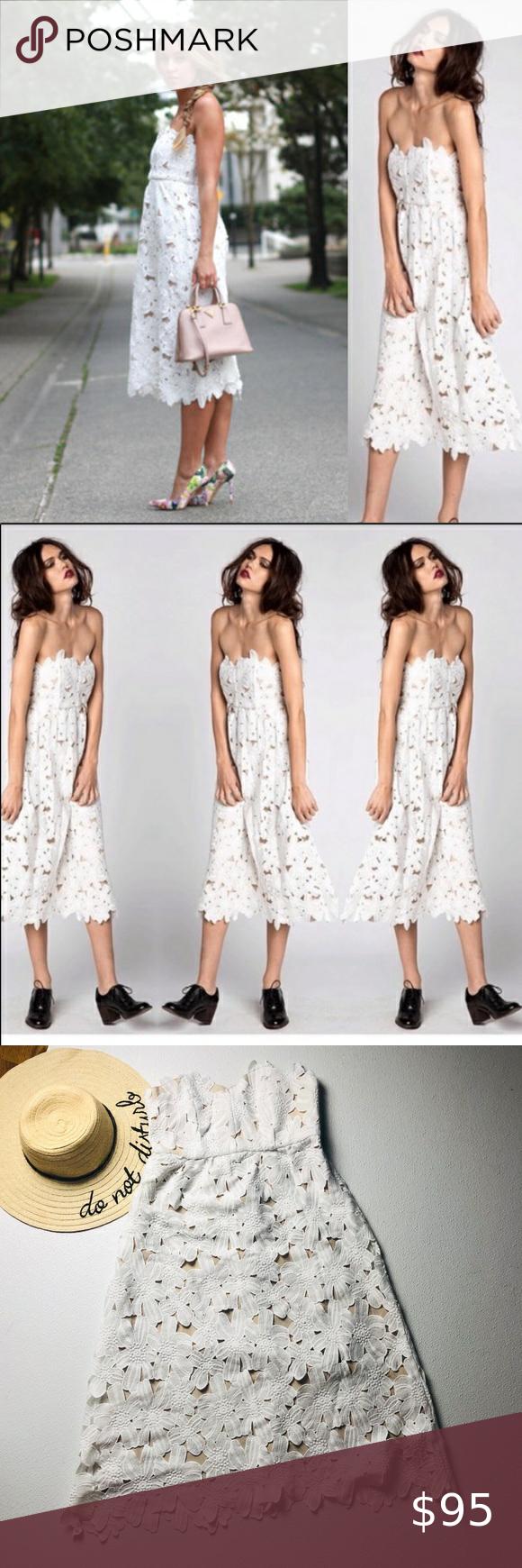 Stone Cold Fox White Lace Sleeveless Midi Dress Dresses Midi Dress Sleeveless Floral Lace Dress [ 1740 x 580 Pixel ]