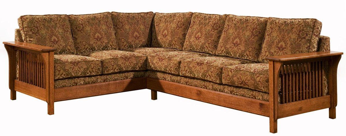 Arts U0026 Crafts Mission Style Upholstered Back Sofa Sectional