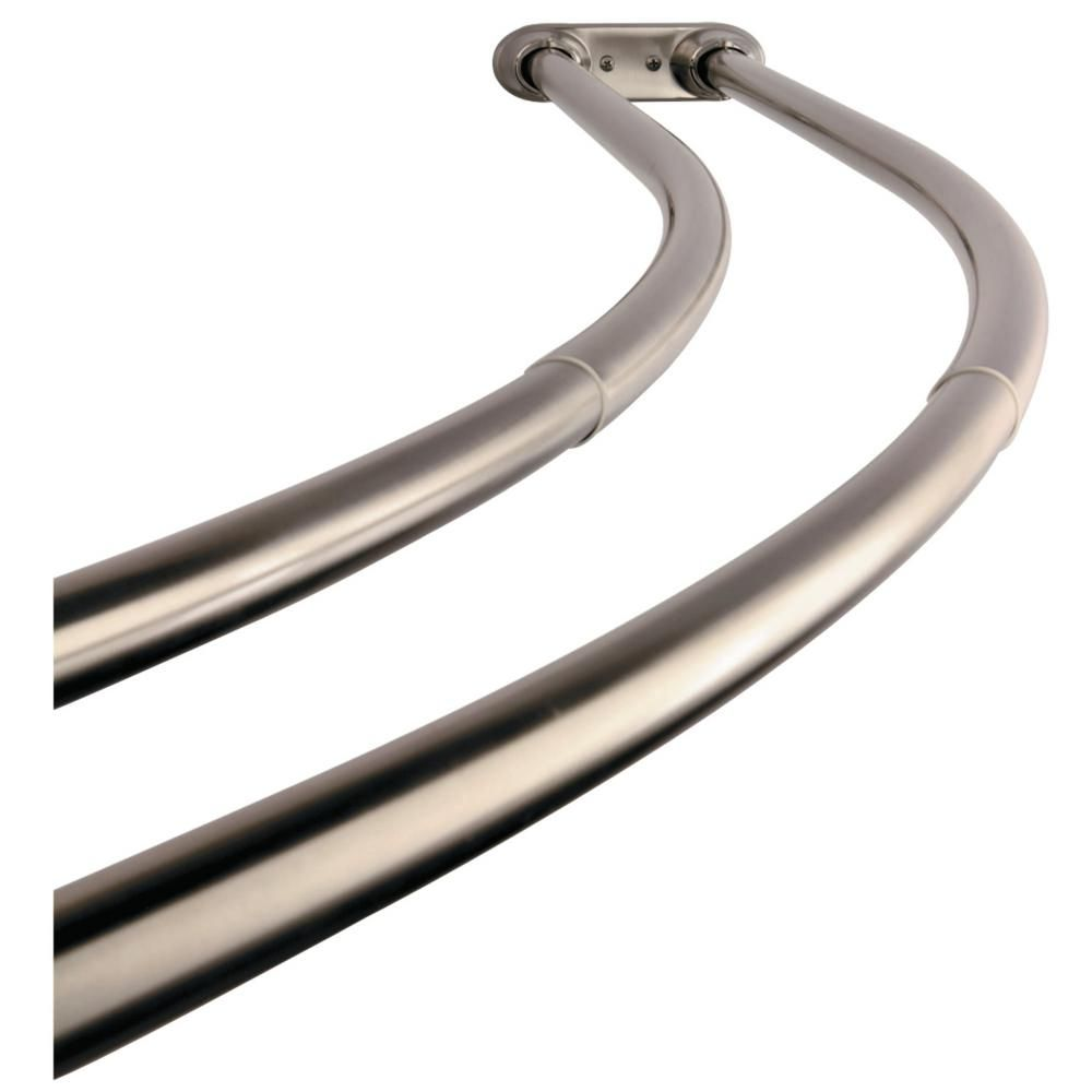 Kingston Brass Vintage 60 In To 72 In Double Curved Shower